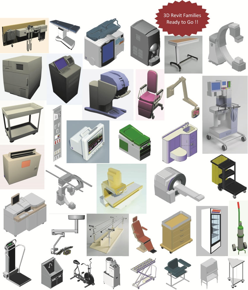 3D Revit Families - Korbel Associates
